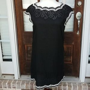 Anthropologie THML Embroidered Black/White Dress